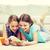 幸せ · 女の子 · スマートフォン · 階 · 人 · 子供 - ストックフォト © dolgachov