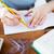 クローズアップ · 鉛筆 · 図面 · コンパス · 定規 · スタジオ - ストックフォト © dolgachov