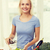 saludable · mujer · verduras · frescas · ensalada · aceite · de · oliva · tomate - foto stock © dolgachov