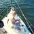 idős · pár · ölel · vitorla · csónak · jacht · tenger - stock fotó © dolgachov