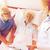 idős · pár · beszél · aggódó · orvosi · pár · kórház - stock fotó © dolgachov