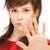 meisje · stoppen · gebaar · heldere · foto - stockfoto © dolgachov