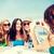 kızlar · kafe · plaj · yaz · tatil · tatil - stok fotoğraf © dolgachov
