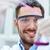 jovem · cientista · vidro · clínico · laboratório - foto stock © dolgachov