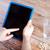 közelkép · férfi · kezek · táblagép · asztal · üzlet - stock fotó © dolgachov