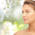 beautiful young woman face looking aside stock photo © dolgachov