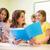 groep · studenten · leraar · notebook · onderwijs · middelbare · school - stockfoto © dolgachov