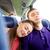gelukkig · paar · passagiers · reizen · bus - stockfoto © dolgachov
