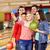 heureux · amis · smartphone · bowling · club · personnes - photo stock © dolgachov
