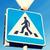 close up of pedestrian crosswalk road sign stock photo © dolgachov