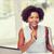 Afryki · kobieta · laptop · biuro · edukacji · działalności - zdjęcia stock © dolgachov