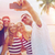 happy friends taking selfie by smartphone on beach stock photo © dolgachov