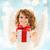 heureux · adolescent · ange · fille · Noël · cadeau - photo stock © dolgachov