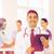 szczęśliwy · lekarza · schowek · medycznych · zespołu · kliniki - zdjęcia stock © dolgachov