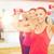 groep · glimlachend · mensen · die · uit · fitness - stockfoto © dolgachov