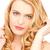 bella · donna · giocare · capelli · lunghi · bellezza · donna · faccia - foto d'archivio © dolgachov