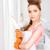 huisvrouw · groot · mes · foto · mooie · vrouw - stockfoto © dolgachov