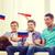 mutlu · erkek · arkadaşlar · bayraklar · dostluk · spor - stok fotoğraf © dolgachov