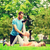 gülen · çift · açık · havada · uygunluk · spor - stok fotoğraf © dolgachov