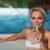 счастливым · купальник · питьевой · шампанского · люди - Сток-фото © dolgachov