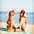улыбаясь · девочек · пляж · лет · праздников - Сток-фото © dolgachov