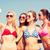 gruppo · sorridere · donne · spiaggia - foto d'archivio © dolgachov