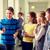 grupo · escuela · ninos · sosa · corredor · educación - foto stock © dolgachov