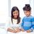 gelukkig · kid · tekening · home · school · kleuterschool - stockfoto © dolgachov