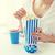 kadın · yeme · patlamış · mısır · içmek · amerikan - stok fotoğraf © dolgachov