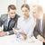 equipe · de · negócios · discussão · negócio · tecnologia · conexão - foto stock © dolgachov