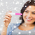 close up of happy woman with home pregnancy test stock photo © dolgachov