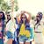 heureux · jeunes · hippie · amis · danse · extérieur - photo stock © dolgachov