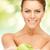 счастливым · улыбаясь · еды · органический · яблоко - Сток-фото © dolgachov