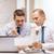 dwa · biznesmenów · pracy · laptop · tabletka · biuro - zdjęcia stock © dolgachov