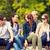 grup · gençler · asılı · dışarı · birlikte · dışında - stok fotoğraf © dolgachov