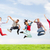 group of teenagers jumping stock photo © dolgachov