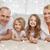 ebeveyn · iki · kızlar · zemin · ev · aile - stok fotoğraf © dolgachov