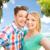 romantique · portrait · couple · tropicales - photo stock © dolgachov