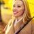 lächelnde · Frau · Dach · Herbst · Park · Jahreszeit · Glück - stock foto © dolgachov