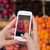 vrouw · handen · smartphone · vruchten · gezond · eten - stockfoto © dolgachov