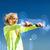vrouw · licht · buitenshuis · sport - stockfoto © dolgachov