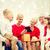neto · natal · apresentar · avô · sorridente · sorrir - foto stock © dolgachov