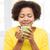 счастливым · афроамериканец · женщину · питьевой · люди - Сток-фото © dolgachov