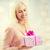 donna · sorridente · san · valentino · regalo · sorridere · donna - foto d'archivio © dolgachov
