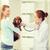 feliz · mujer · perro · médico · veterinario · clínica - foto stock © dolgachov