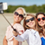 group of smiling women taking selfie on beach stock photo © dolgachov