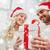 glücklich · Paar · home · Weihnachten · Geschenkbox · Feiertage - stock foto © dolgachov