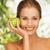 улыбаясь · красоту · зеленый · яблоко · изолированный - Сток-фото © dolgachov