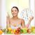 idő · egészséges · étel · óra · közelkép · fehér · piros - stock fotó © dolgachov
