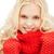 uśmiechnięty · czerwony · rękawice · szalik · zimą - zdjęcia stock © dolgachov